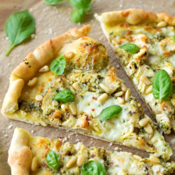 Pesto Chicken Pizza | lifemadesimplebakes.com