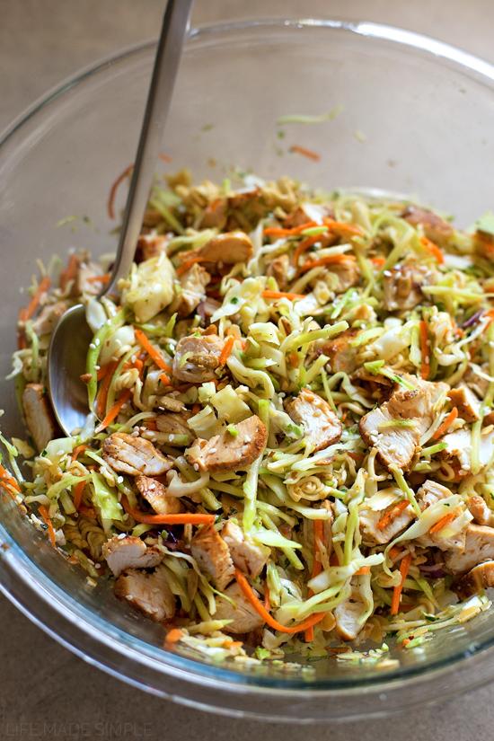 Sesame Coleslaw Salad | lifemadesimplebakes.com