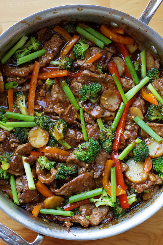 30 Minute Mongolian Beef Stir-Fry | lifemadesimplebakes.com