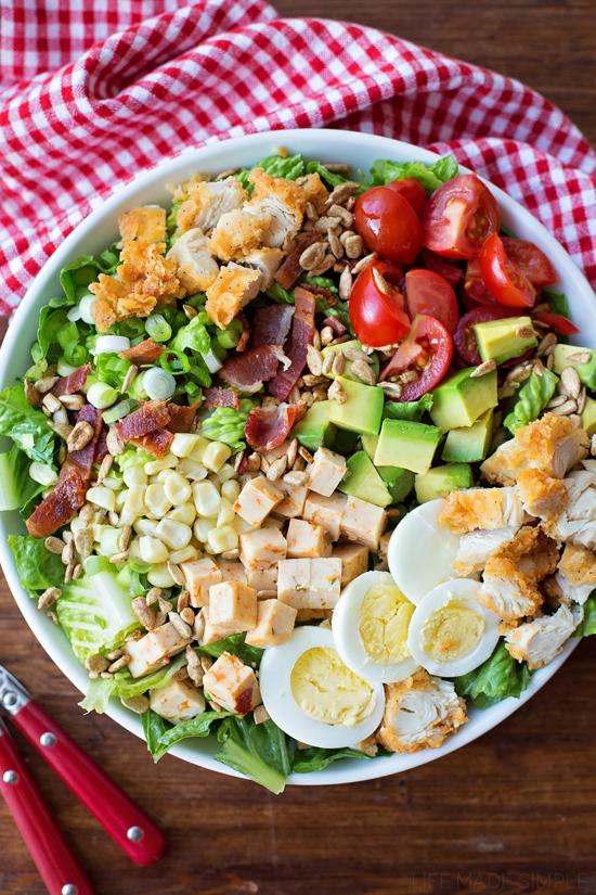 BLT Cobb Salad | lifemadesimplebakes.com