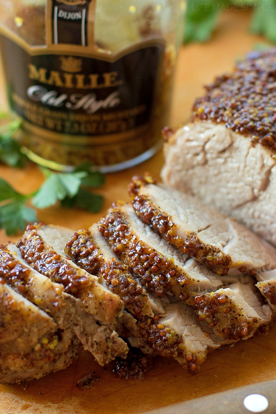 Glazed Pork Loin With Mustard And Brown Sugar Recipe — Dishmaps