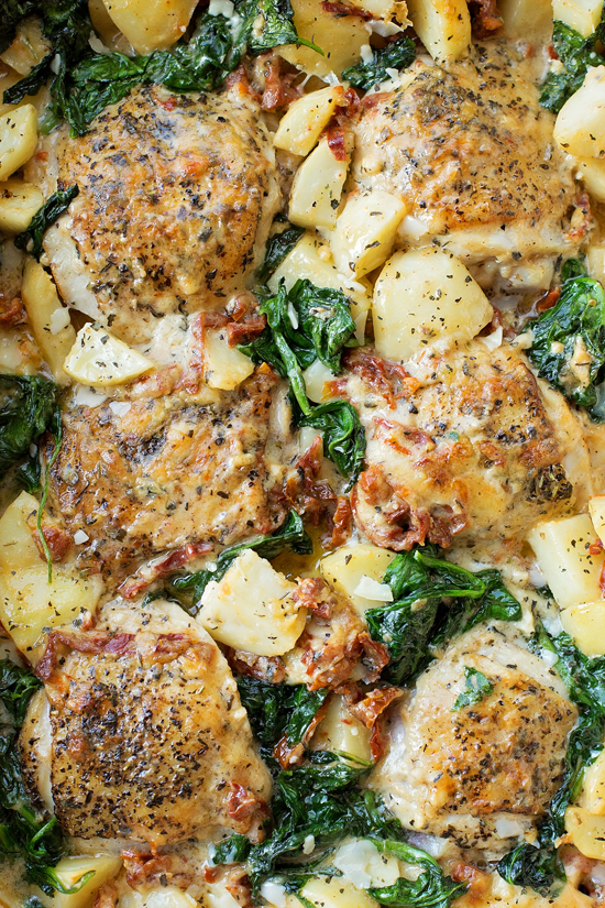 Creamy Tuscan Chicken and Potatoes