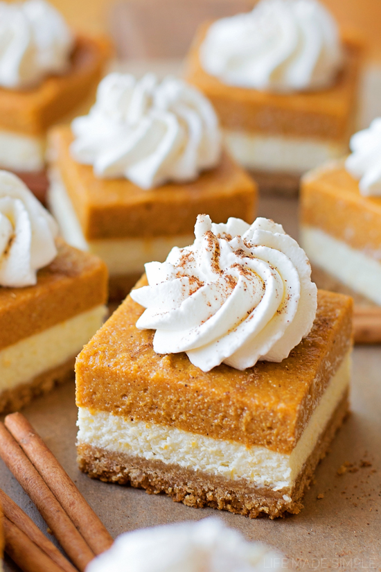 You're going to love these layered pumpkin pie cheesecake bars. They ...