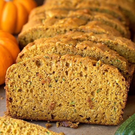 pumpkin zucchini bread  life made simple