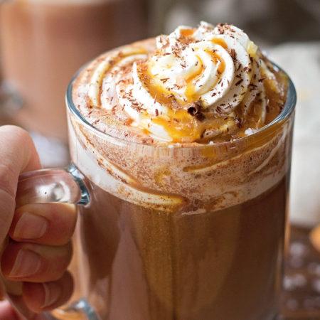 Salted Caramel Hot Cocoa   lifemadesimplebakes.com