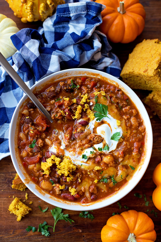 Turkey Pumpkin Chili | lifemadesimplebakes.com
