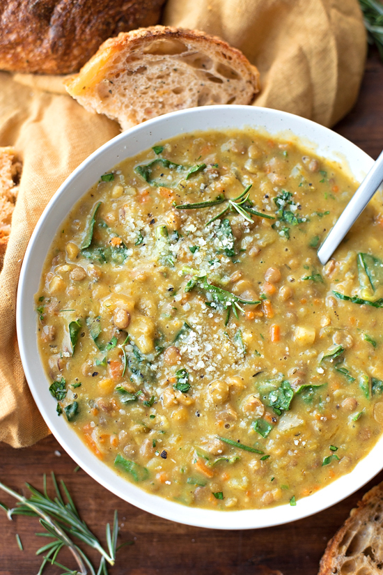 Veggie Loaded Lentil Soup | lifemadesimplebakes.com