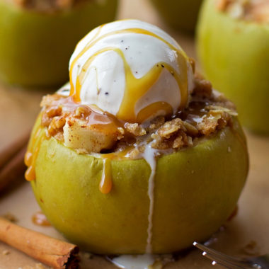 Apple Crisp Stuffed Apples | lifemadesimplebakes.com