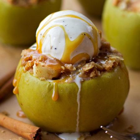 Apple Crisp Stuffed Apples | lifemadesimplebakes.com