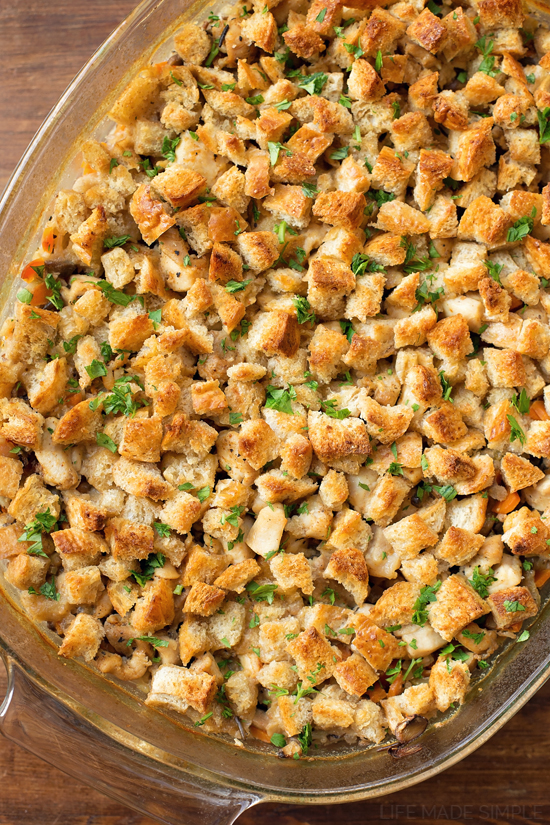 hearty chicken and wild rice casserole is made with tender chicken ...