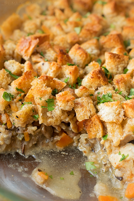 Chicken and Wild Rice Casserole | lifemadesimplebakes.com
