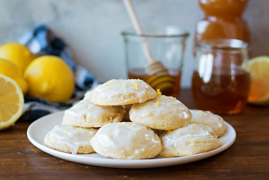 Lemon Honey Cloud Cookies | lifemadesimplebakes.com