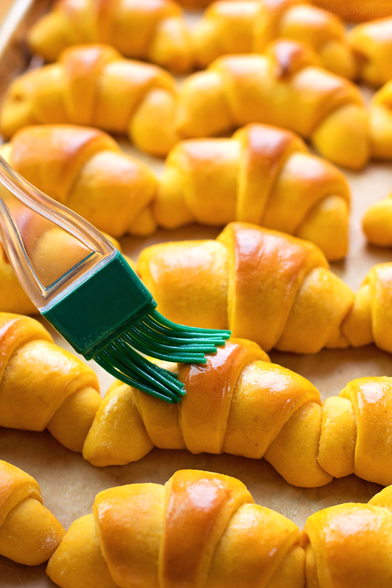 Pumpkin Honey Butter Crescent Rolls   lifemadesimplebakes.com