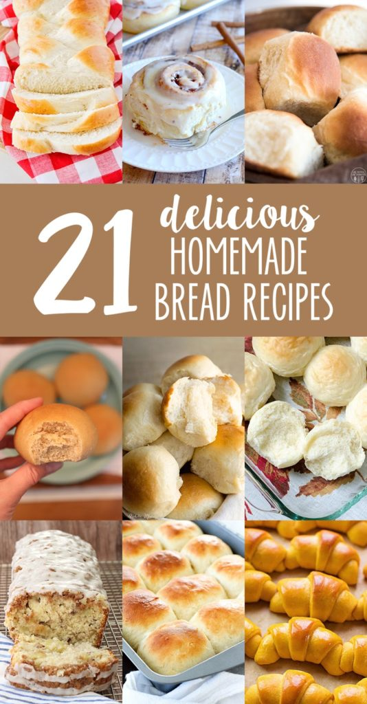 21 Delicious Homemade Bread Recipes | lifemadesimplebakes.com