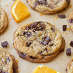 Orange Dark Chocolate Chunk Cookies