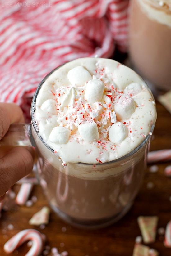 Peppermint Hot Cocoa | lifemadesimplebakes.com