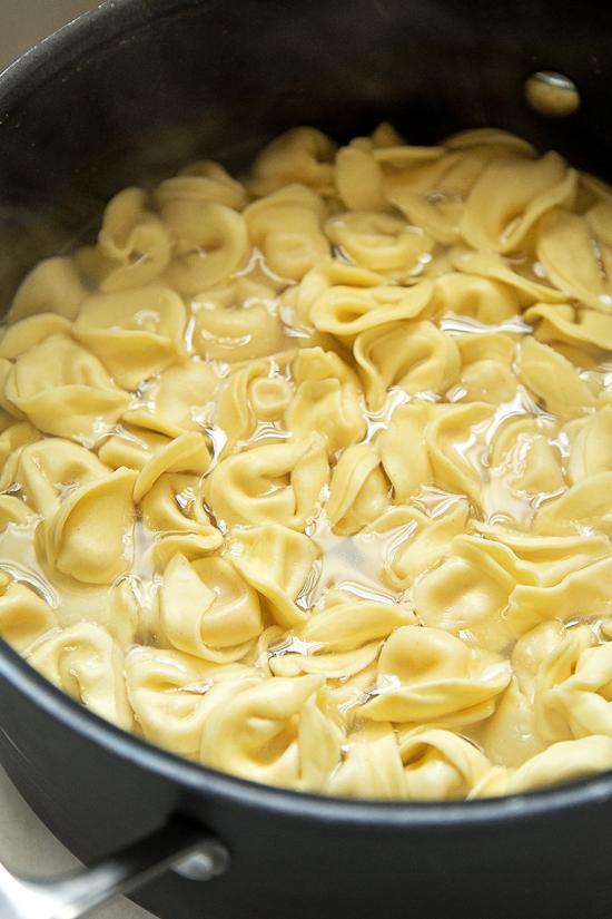 30 Minute Toasted Tortellini with Pesto | lifemadesimplebakes.com