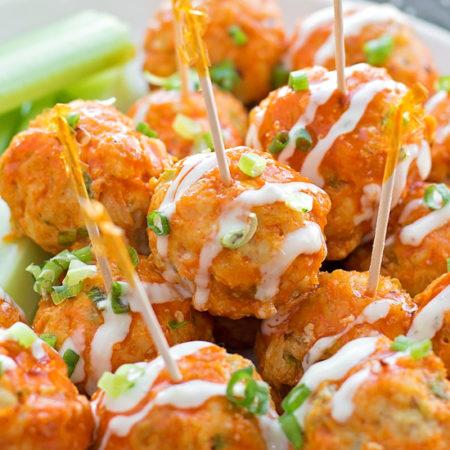 Easy 30 Minute Buffalo Chicken Meatballs | lifemadesimplebakes.com