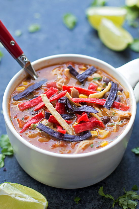 Chicken Tortilla Soup | lifemadesimplebakes.com