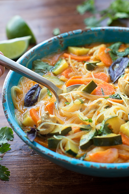 Curried Chicken Noodle Soup | lifemadesimplebakes.com