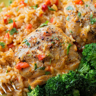 Overnight Curried Chicken with Brown Rice | lifemadesimplebakes.com