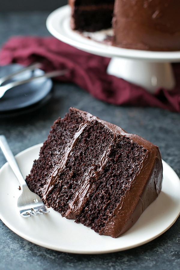 Chocolate Blackout Cake | lifemadesimplebakes.com