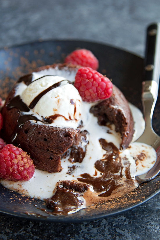 These decadent chocolate molten lava cakes are the perfect small batch ...