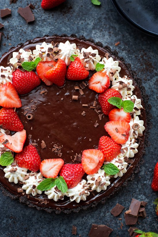 Triple Chocolate Tart | lifemadesimplebakes.com