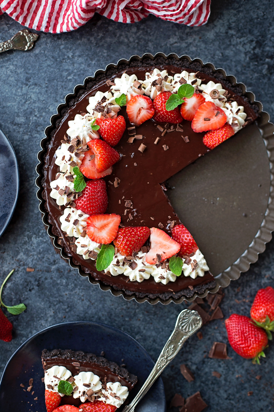 Triple Chocolate Tart | lifemadesimplebakes.com