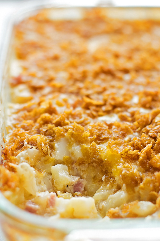 Cheesy Ham and Potato Casserole | lifemadesimplebakes.com