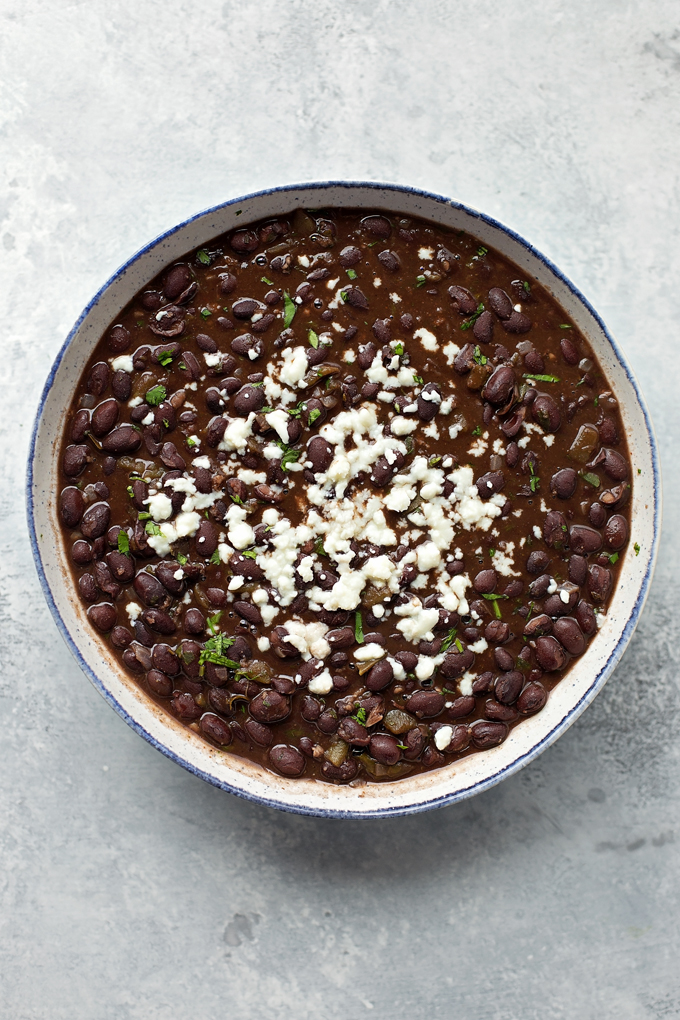 Easy Restaurant Style Black Beans | lifemadesimplebakes.com