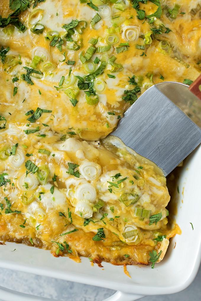 how to make green enchiladas easy