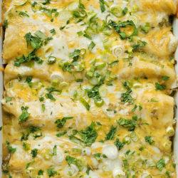 Mom's Green Enchiladas | lifemadesimplebakes.com