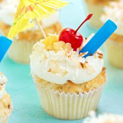 Tropical Pina Colada Cupcakes   lifemadesimplebakes.com