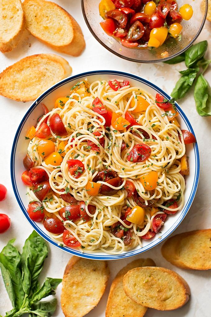 Carrie's Experimental Kitchen: Whole Grain Spaghetti with ...   Bruschetta And Spaghetti