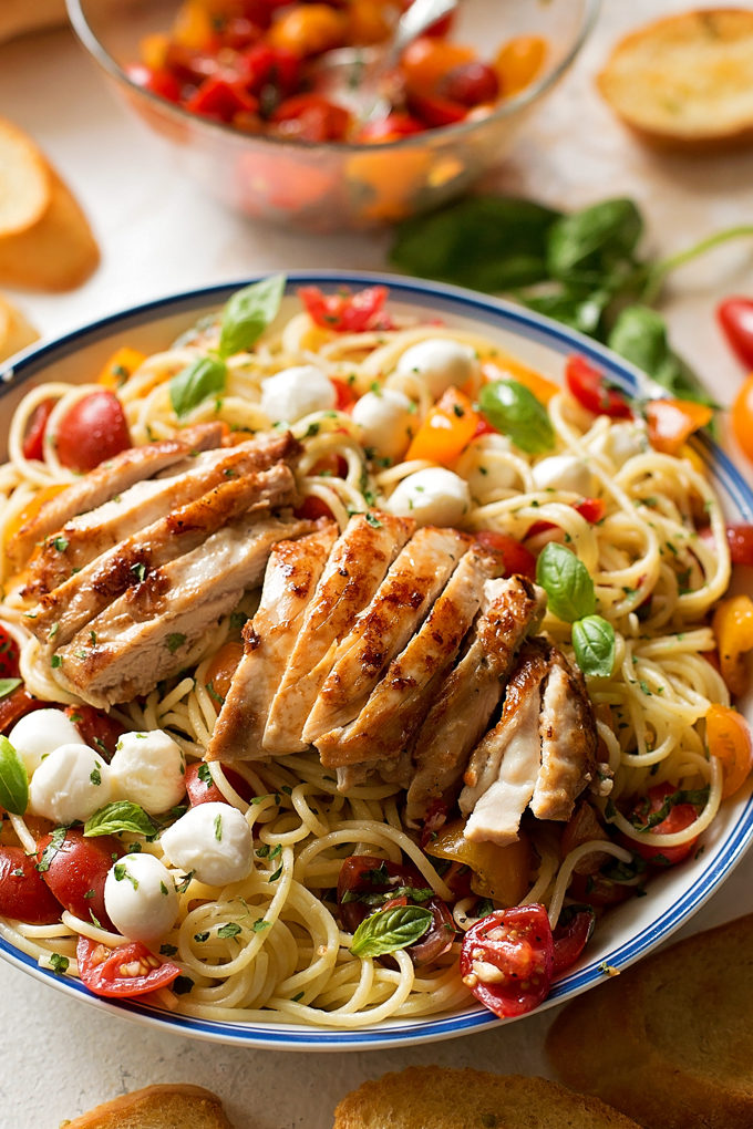 Bruschetta Chicken and Pasta | lifemadesimplebakes.com