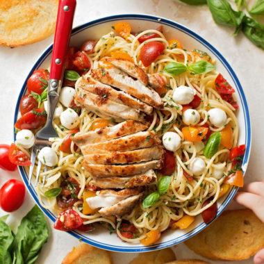 Bruschetta Chicken and Pasta | lifemadesimplebakes.com