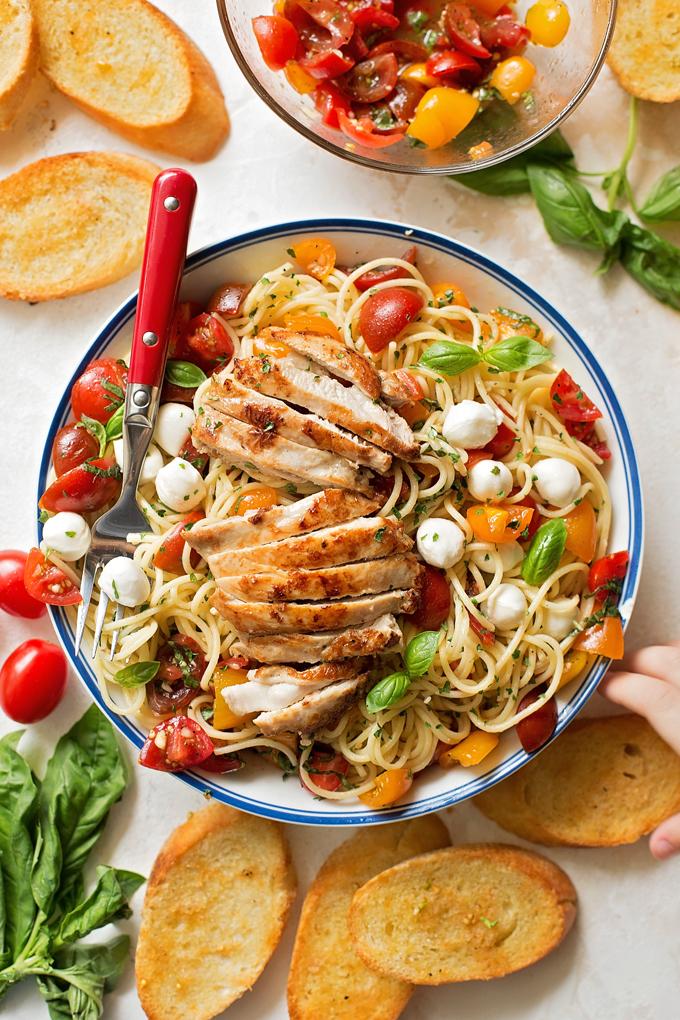 Bruschetta Chicken - Bruschetta Chicken Pasta Recipe   Bruschetta And Spaghetti