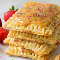 Peanut Butter & Jelly Pop Tarts made with Peanut Butter & Co.® Smooth Operator | lifemadesimplebakes.com