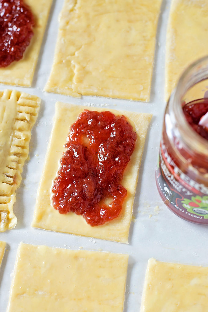 Peanut Butter & Jelly Pop Tarts made with Peanut Butter & Co.® Smooth Operator   lifemadesimplebakes.com