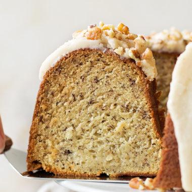 Best Ever Banana Bundt Cake | lifemadesimplebakes.com