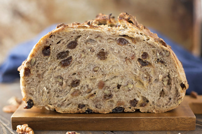 Foolproof Cinnamon Raisin Artisan Bread | lifemadesimplebakes.com
