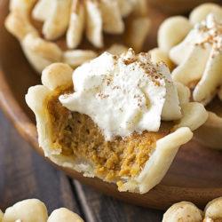 Mini Pumpkin Pie Bites | lifemadesimplebakes.com