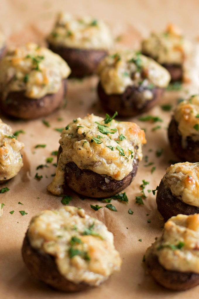 Sausage Stuffed Mushrooms | lifemadesimplebakes.com