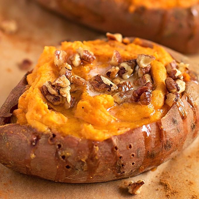 Simple Roasted Sweet Potatoes: Twice Baked Sweet Potatoes