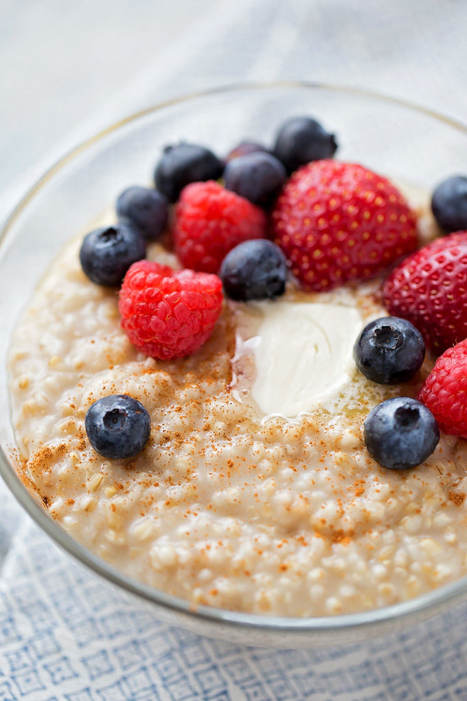 Instant Pot Steel Cut Oats | lifemadesimplebakes.com