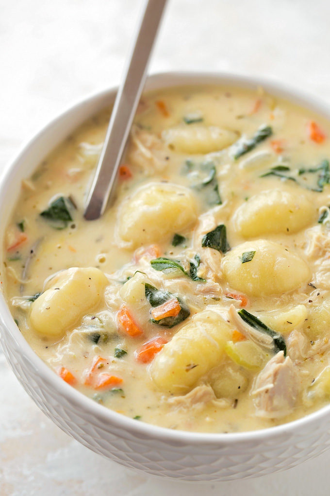 Chicken Gnocchi Soup | lifemadesimplebakes.com