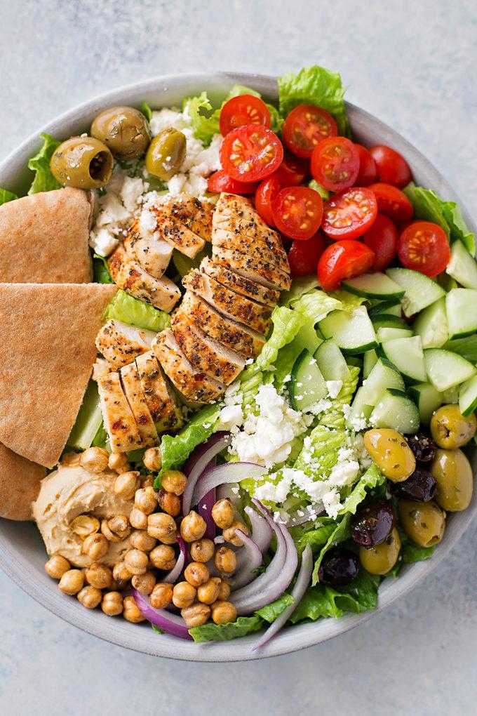 Chicken Gyro Salad   lifemadesimplebakes.com