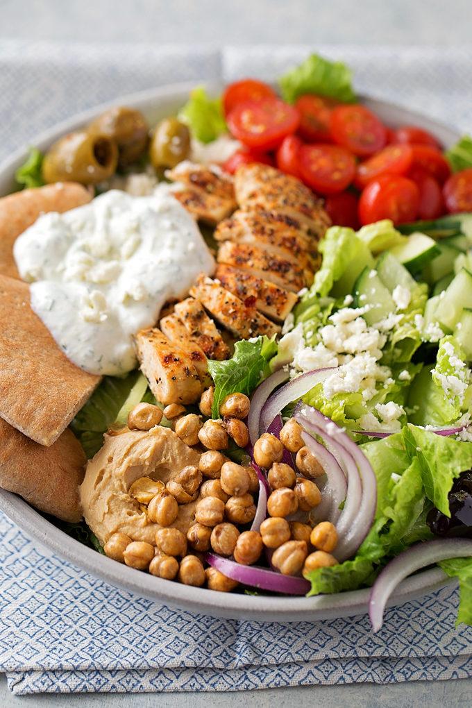 Chicken Gyro Salad | lifemadesimplebakes.com