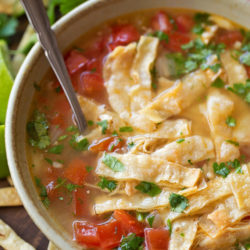 Instant Pot Tortilla Soup | lifemadesimplebakes.com
